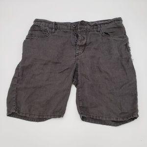 John Varvatos Mens Short Star USA Black 100% Linen